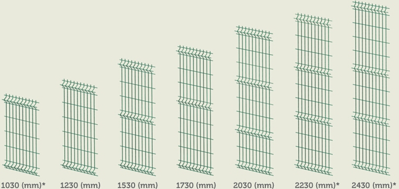 Welded Wire Panel Fence (3D)
