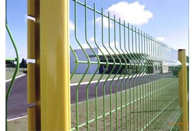 Components and surface treatment of stadium fence