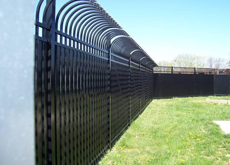 Bent Top Fence